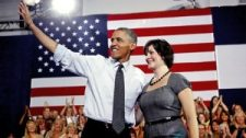 Sandra Fluke Campaigns in Colorado with President Obama