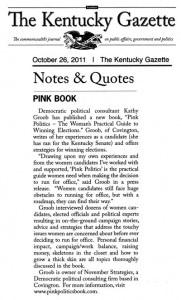 Pink Politics Featured in the Kentucky Gazette