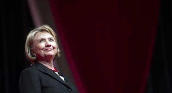 Hillary Clinton all but running