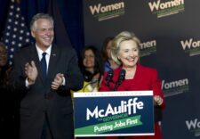 Hillary Clinton returns to campaign trail, stumping for someone else — for now